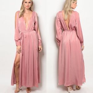 Dresses & Skirts - 🌸🌸JUST IN🌸🌸 CASSIE BLUSH ROMPER/MAXI DRESS